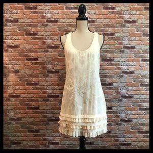 Ted Baker Beaded Silk Pleated Hem Shift Dress